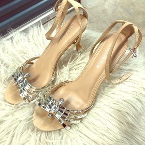 Rhinestone accent shoes